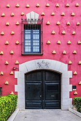 Outdoor view of details from Dali's Museum building in Figueras, Catalonia, Spain.