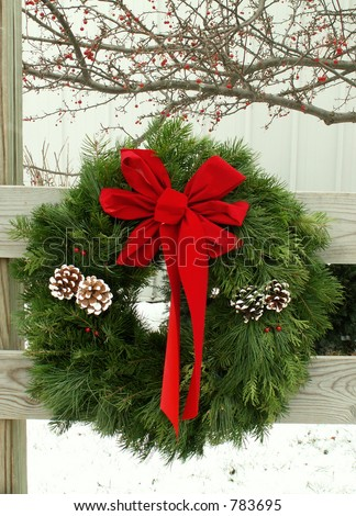 outdoor wreath
