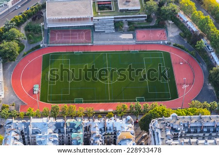 Outdoors sports center for practice soccer, athletics, tennis, basketball and other sports
