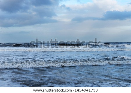 outer banks north carolina beach water ocean blue boardwalk landscape perspective tide waves clouds sky travel sunset colorful #1454941733