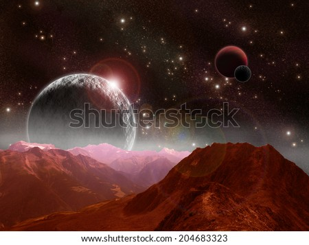 Free hdri night sky for Outer space scene