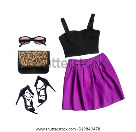 Shutterstock Outfit of clothes and woman accessories