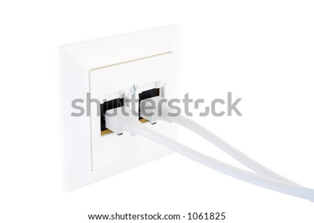 Outlet I, isolated on white