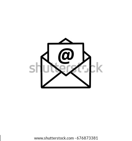 outline email icon