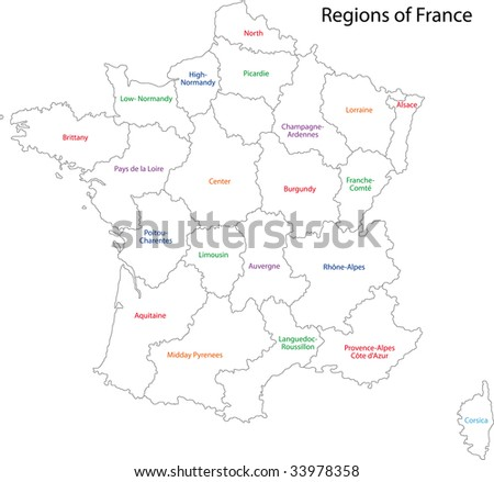 Pictures Of France Map. France map with regions