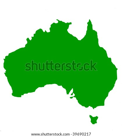 map of australia outline only. stock photo : Outline map of