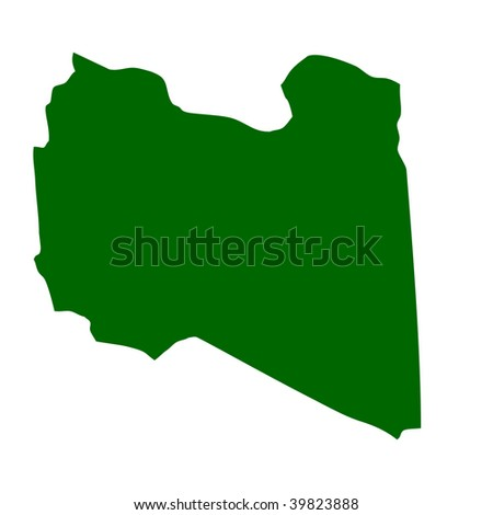physical maps of libya. map of Libya isolated on
