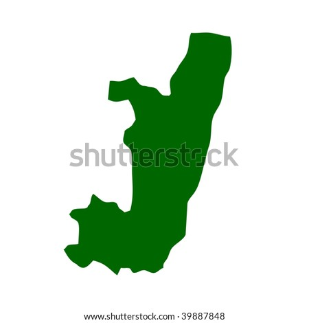 Outline map of Republic of the Congo isolated on white background with clipping path.