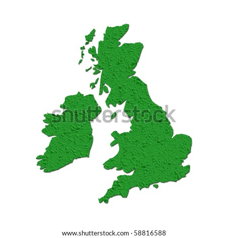 Outline map of UK filled with crumpled paper effect
