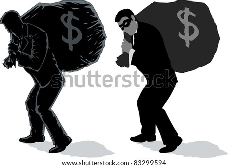 Outline of Business man with bag