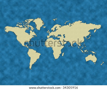 world map outline with country names. Earth, a world country borders