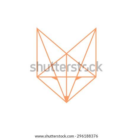 Simple fox head outline - photo#20