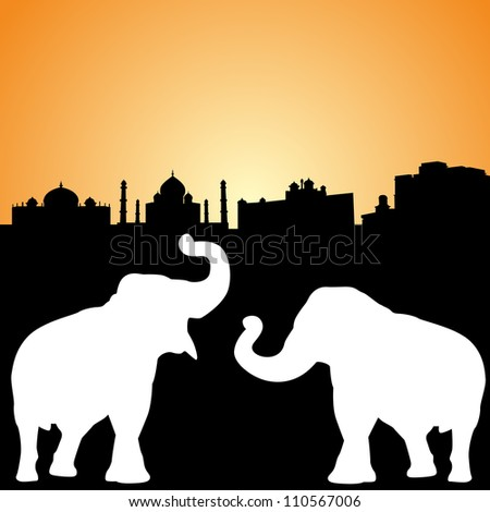 Elephant Drawing Outline Outlines of Indian Elephants