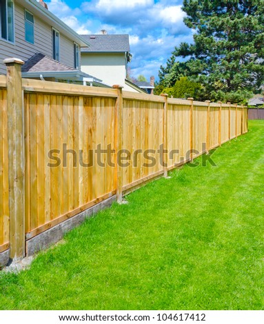 Outlook of the wooden fence.