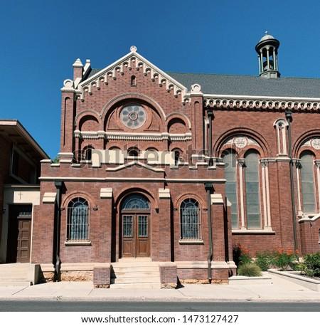Outside of pretty church, pretty architecture