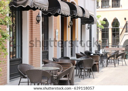 Outside restaurant, brow tone. #639118057