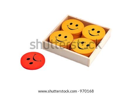 Outsider - see portfolio for more smilies - stock photo