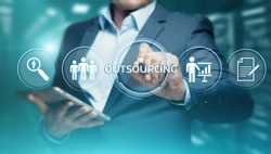 Outsourcing Human Resources Business Internet Technology Concept.