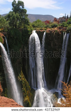 ouzoud fall  in morocco