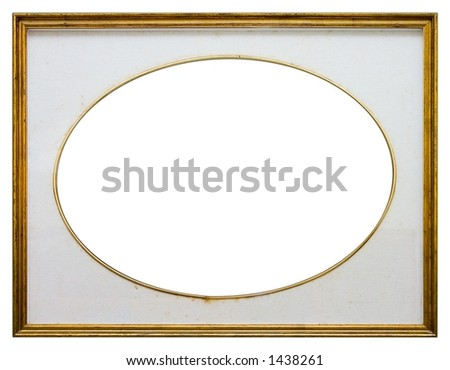 Oval frame isolated on white background