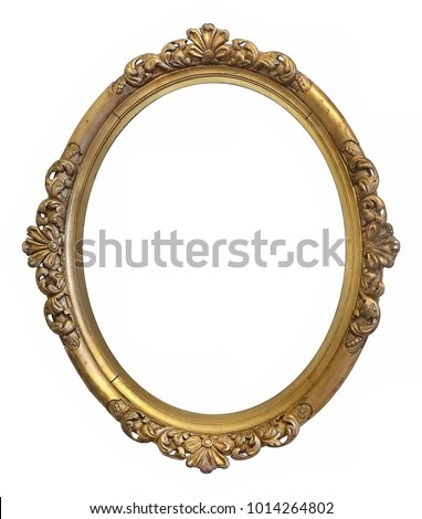 oval golden frame for paintings ...