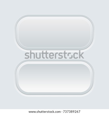 Oval gray web buttons. 3d illustration. Raster version #737389267