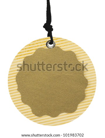 oval tag isolated