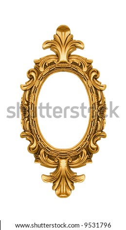 Oval vintage gold ornate frame, similar available in my portfolio