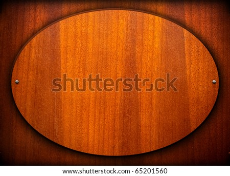 oval wood board background