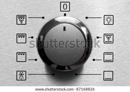 Oven program control dial closeup