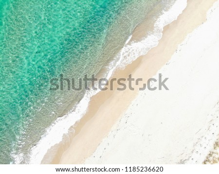 Over the Beach and Waves, Taking from drone #1185236620