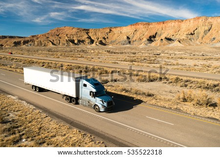 Over The Road Long Haul 18 Wheeler Big Rig Semi Truck #535522318