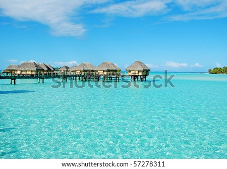 over water bungalow at bora bora