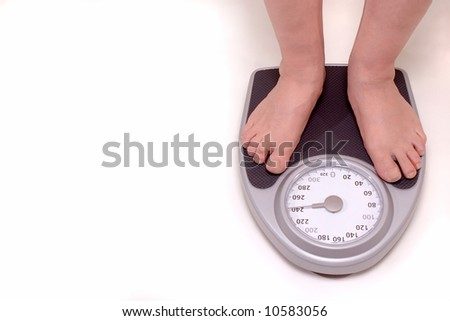 Over-weight Male on Scale