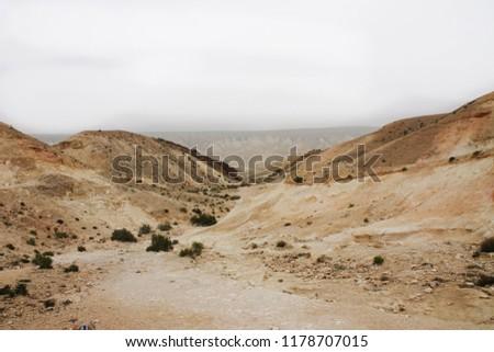Overcast day in the desert