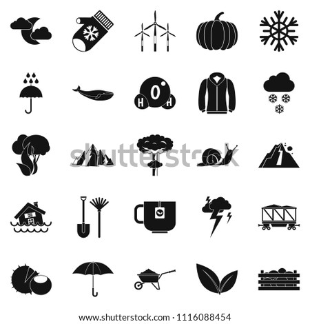 Overcast icons set. Simple set of 25 overcast icons for web isolated on white background