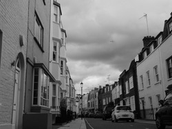 Overcast Skies from West London Back Street