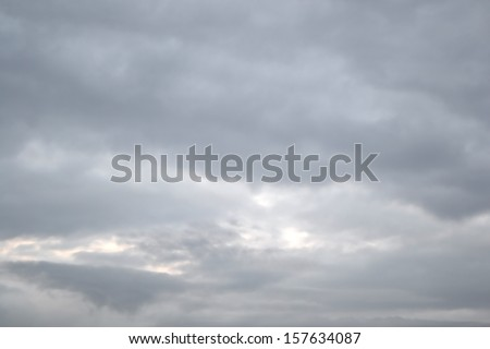 Overcast sky with dark clouds