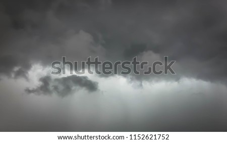 Overcast sky with dark clouds. abstract background. The sky was overcast before the rain is heavy.The black cloud  strom.