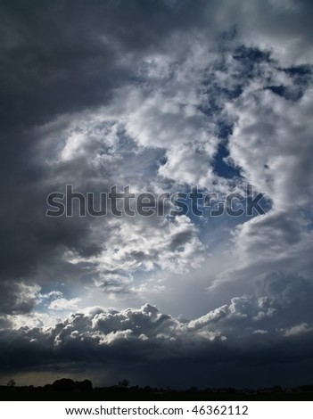 Overcast sky with storm clouds