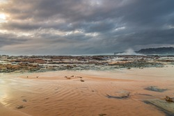 Overcast Sunrise Seascape from North Avoca Beach on the Central Coast, NSW, Australia.