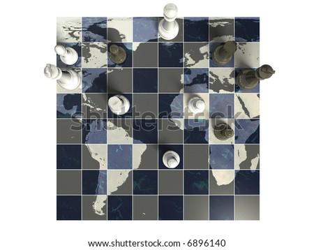 Overhead Global Chess Game