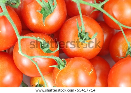 Overhead View Cherry Tomatoes