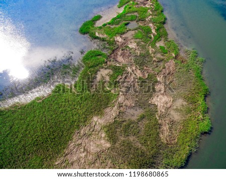 Overhead View of Island #1198680865