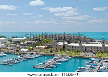 Overlook of King's Wharf at the former Royal Naval Dockyard on Ireland Island, Bermuda #1418284454