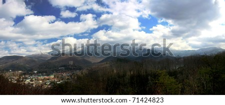 Overlooking the vacation town of Gatlinburg Tennessee