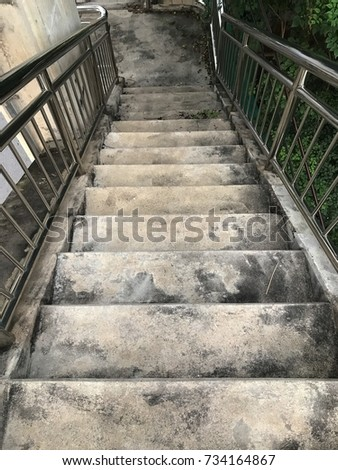 overpass stairs #734164867