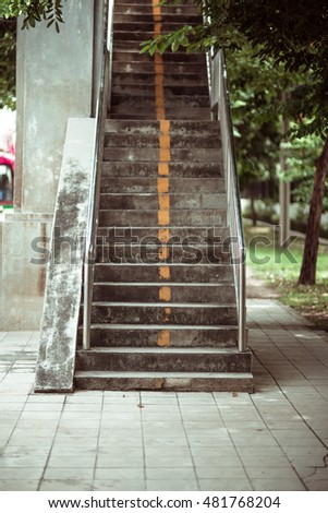 overpass stairs in the city....