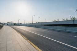 overpass with highway in hangzhou china