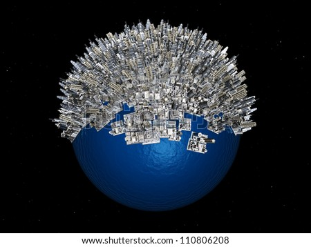 Overpopulation Computer generated 3D illustration